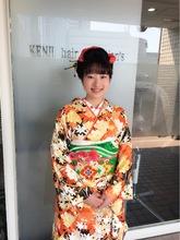 日本髪風上品なまとめ髪アップスタイル!!!|KENJI hair collection's 西宮店のヘアスタイル