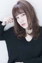 Maria by afloat大人女性ナチュラルワンカールセミディ♪30代40代50代の方も◎|Maria by afloatのヘアスタイル