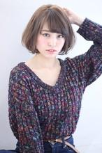 大人小顔ボブ☆アッシュベージュ|Maria by afloatのヘアスタイル