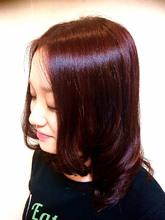 秋をイメージした赤味のある落ち着いたカラー♪|HORIDE & Couleurのヘアスタイル