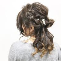 袴にも合わせれる可愛いハーフアップスタイル( ´∀`)