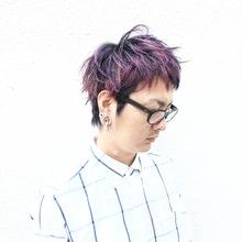 ショートスタイルのデザイングラデーションカラー☆|MEGAMI BeautyShop 西淀川区 塚本店のメンズヘアスタイル
