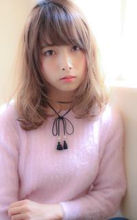 小顔にみせる前髪 柔らかい質感の大人ミディ☆