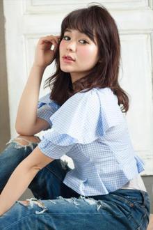 桐谷美玲さん風柔らかバング