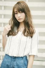 オシャガール ブレンドハイライト ワンレンロング|MINX harajukuのヘアスタイル