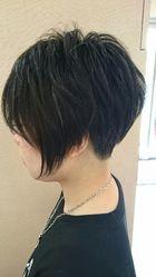 スッキリ刈り上げアシンメトリーボブ|Run 美容室アールアン 平塚のヘアスタイル