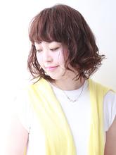 パーマで可愛くなりましょう♪大人可愛いカジュアルボブ☆|ROUGE 茗荷谷店のヘアスタイル