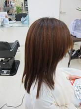 顔を包み込む サラサラ感がやさしい|イオカビューティーショップ 富雄店のヘアスタイル
