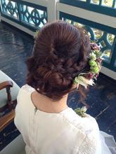 花冠のブライダルヘアアレンジ|Synergyのヘアスタイル