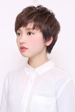 女性らしさを残したショートスタイル|HAIR MAKE UE2 SEED 金剛駅前店のヘアスタイル