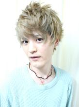 透け感グレージュカラーリング!!|HAIR MAKE Effetのメンズヘアスタイル