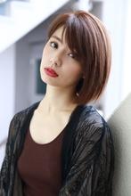 ボブクラシカル☆ミルクティーカラー☆トップノット|MODE K's 塚本店 モードケイズ塚本店のヘアスタイル