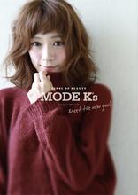 ゆれてキレイさ香る愛されパーマヘアー|MODE K's 塚本店 モードケイズ塚本店のヘアスタイル