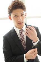 ビジネススーツに似合う♪ソフトツーブロックさわやかショート☆|felicita 緑地公園店のメンズヘアスタイル