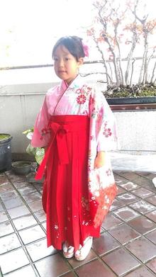 大人かわいい袴スタイル@編み込みルーズアップ