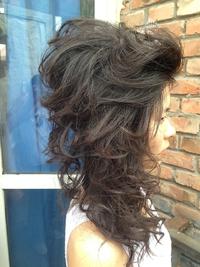 黒髪&暗い髪にも似合う無操作ルーズなセレブ風結婚式アレンジ