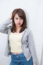 抜け感斜めバング☆セミウエットナチュラルセミディ|felicita 福島店のヘアスタイル