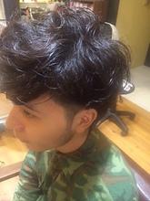 好感度アップ!無造作ほつれニュアンスパーマ★2ブロック|felicita 福島店のメンズヘアスタイル