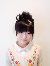シンプルなアップ|hair garden ans. 千歳烏山店のキッズヘアスタイル