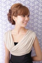 【結婚式】 編み込みカールアップ ≪ichiko≫|ichiko  のヘアスタイル