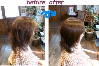 染めれば染めるほど髪が潤いすんなりとまとまる髪になるカラー