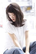 透け感グレージュロブ|CLANのヘアスタイル