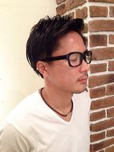 アップバングナチュラル2ブロックスタイル|Aereのメンズヘアスタイル