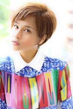 柔らかい雰囲気のカジュアルな夏ショート!|Aereのヘアスタイル