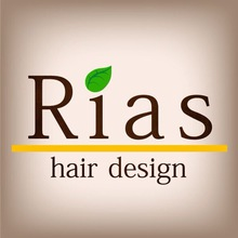 Rias hair design  | リアス ヘア デザイン  のロゴ