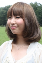 大人かわいいフェミニンボブ2013 MILLENNIUM NEW YORK 仙川店のヘアスタイル