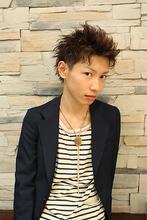 2ブロックアップバングショート|gokan omotesandoのメンズヘアスタイル