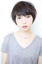 前下がりボブでひし形フォルム 前髪ふんわり小顔効果スタイル|gokan omotesandoのヘアスタイル