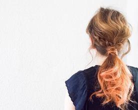 ポニーテール×グラデーションカラー|【頭皮・髪のエステ専門ヘアサロン】Hair Vall RaQ のヘアスタイル