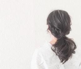 ポニーテール|【頭皮・髪のエステ専門ヘアサロン】Hair Vall RaQ のヘアスタイル