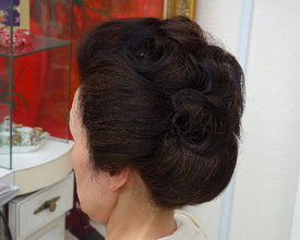 日本髪風アップ|こあさじょうじ美容室のヘアスタイル