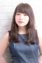 ツヤサラサラモードで大人かわいい前髪のラブヘア |Hair art chiffon 川口東口店のヘアスタイル