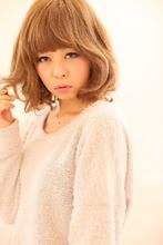 強めミディアムスタイル|Beauty Labo 岡本店のヘアスタイル