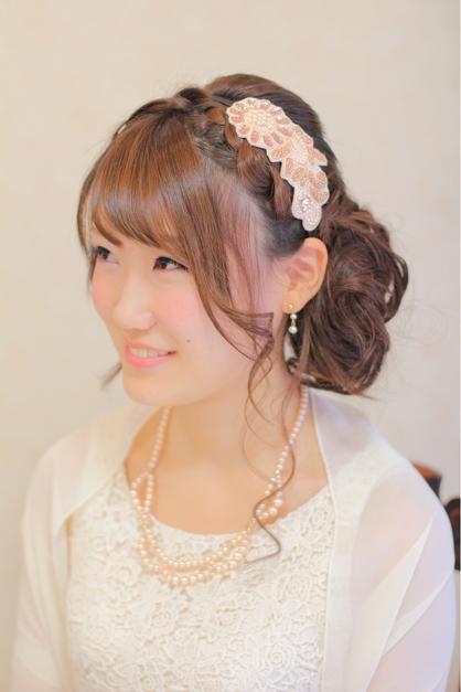 結婚式 髪型 ミディアム サイドアップ | kamigata