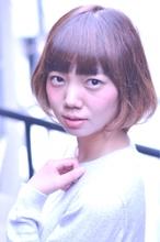 インナーグラデーションカラー&ちょっとだけ前下がりボブ Laissez 新松戸駅前店のヘアスタイル
