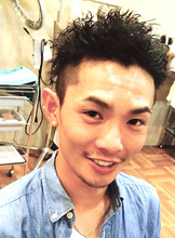 ハードツイストパーマ|メンズ専門理容室インフィニィト 新長田/神戸市/長田区/のヘアスタイル