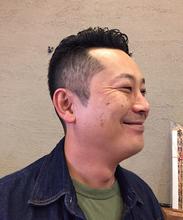 さっぱりショートヘア|メンズ専門理容室インフィニィト 新長田/神戸市/長田区/のヘアスタイル