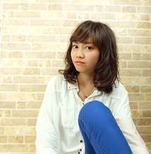 ガーリーなAラインスタイル #似合わせ#小顔#ふわミディ|SINCERITYのヘアスタイル