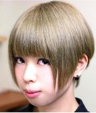 ショートボブ/ハイトーンアッシュブラウン KAMIFUSEN It's HAIRのヘアスタイル
