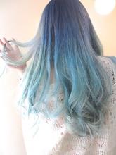 【アメ村b:Ash】マーメイドブルーグラデーション|hair b:Ashのヘアスタイル