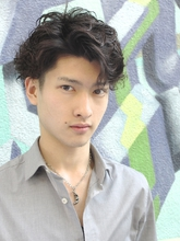 【b:Ash】ワイルド系メンズパーマ|hair b:Ashのメンズヘアスタイル