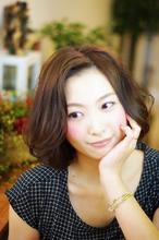 【ミディアム】ゆるボブ×アッシュ aurum hair&spa 下北沢のヘアスタイル