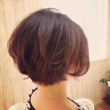 ふんわりショートボブ|aura hair maisonのヘアスタイル