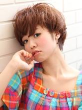 ベリーキュート〜マッシュ〜ショートボブ|Lbaccia 渋谷店のヘアスタイル