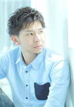 ☆sCene est☆ 2ブロックナチュラルパーマ|sCene ESTのメンズヘアスタイル