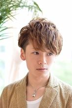 ☆爽やか2ブロック&パーマ|GALLARIA Elegante 春日井店のメンズヘアスタイル